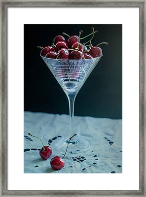 Cherry Cocktail Framed Print by Maggie Terlecki