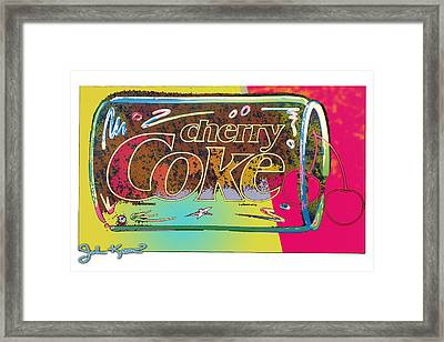 Cherry Coke 1 Framed Print by John Keaton