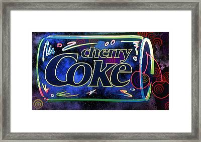 Cherry Coke 2 Framed Print by John Keaton