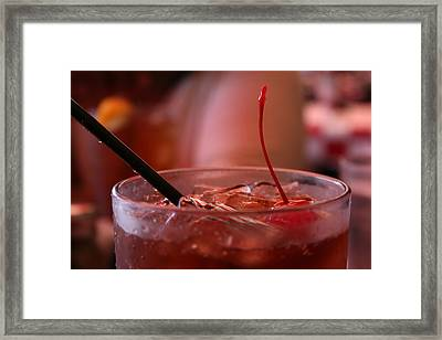 Cherry Coke Framed Print by Aimee Galicia Torres