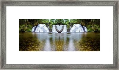 Cherry Creek Falls Reflection Framed Print by Pelo Blanco Photo