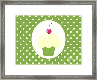 Cherry Cupcake  Framed Print by Kourai