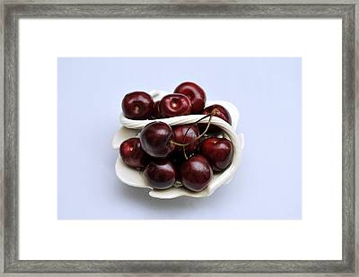Cherry Dish Framed Print by Terence Davis