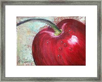 Sweet Cherry Framed Print by T Fry-Green