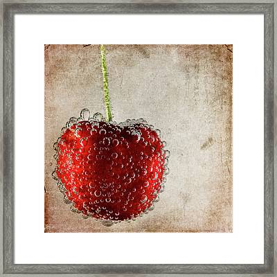 Cherry Fizz Framed Print