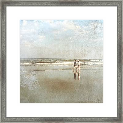 Cherry Grove Beach Walk Framed Print
