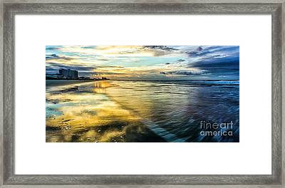 Cherry Grove Golden Shimmer Framed Print