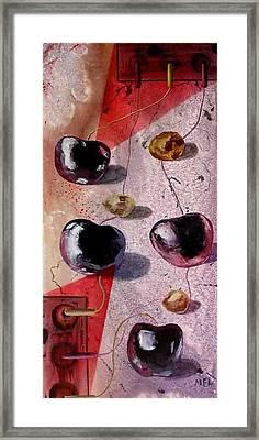 Cherry Music Framed Print by Evguenia Men