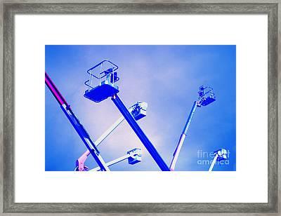 Cherry Picker Platforms Framed Print