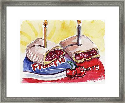 Cherry Pie Indulgence Framed Print