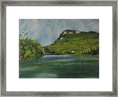 Cherry Pond Orford National Park Quebec Canada Framed Print
