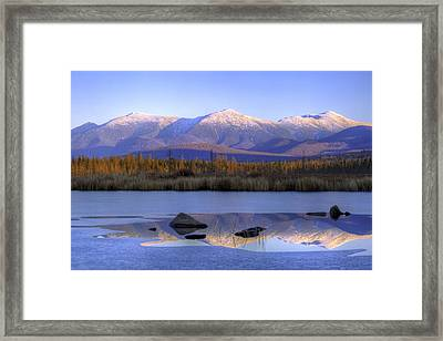 Cherry Pond Reflections Framed Print
