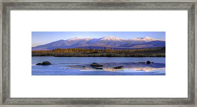 Cherry Pond Reflections Panorama Framed Print