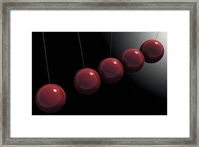 Cherry Red Knockers Framed Print by Richard Rizzo
