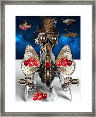 Cherry Robot 1 Art Framed Print
