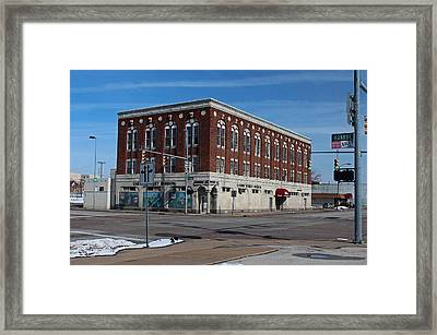 Framed Print featuring the photograph Cherry Street Mission In Winter by Michiale Schneider