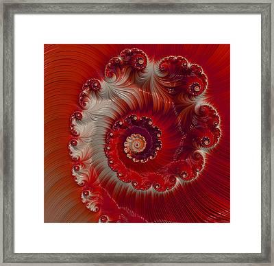 Cherry Swirl Framed Print