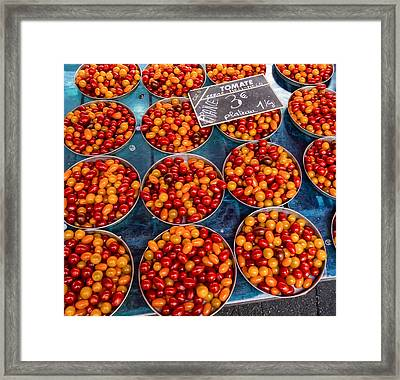 Cherry Tomatoes In Lyon Market Framed Print
