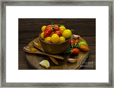 Cherry Tomatoes Still Life Framed Print