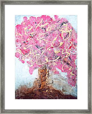 Cherry Tree By Colleen Ranney Framed Print