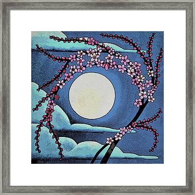 Cherry Whip Moon Framed Print