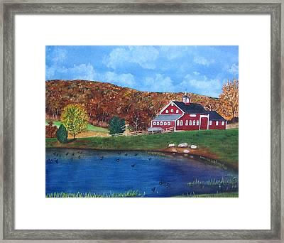 Cherrybrook Farm Framed Print by Sharon Farber
