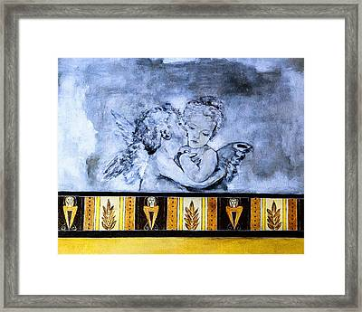 Framed Print featuring the photograph Cherub Friendship by Marion McCristall