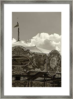 Cherub In The Clouds Framed Print