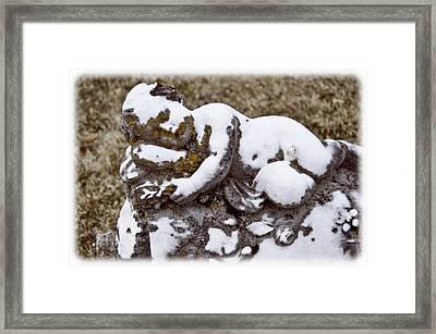 Cherub Stone Framed Print