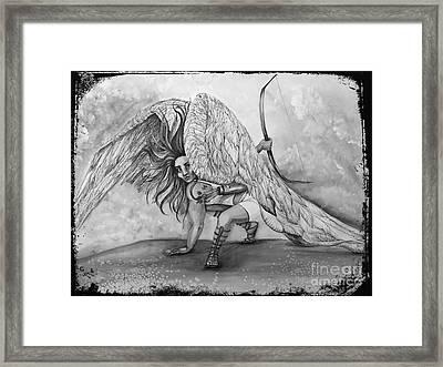 Cherubim Digital Edit Framed Print