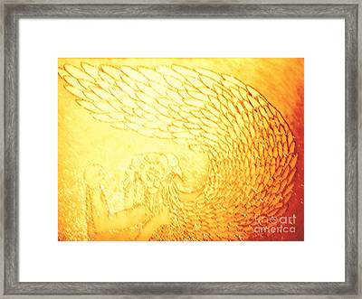 Cherubim Living Creatures Showing Wings Framed Print by Daniel Henning