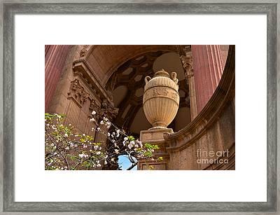 Cherubs  Angels And Columns Framed Print by Debby Pueschel