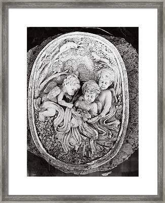 Cherub...winged Angel Framed Print by Tom Druin