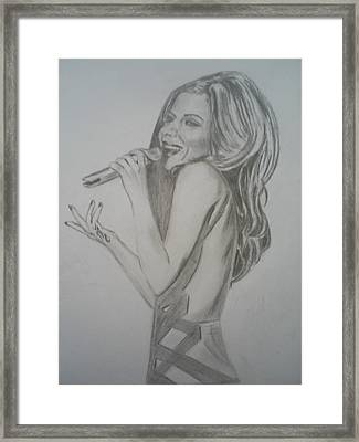Cheryl Cole Framed Print by James Dolan