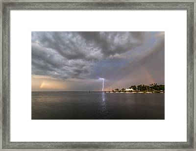 Chesapeake Bay Rainbow Lighting Framed Print