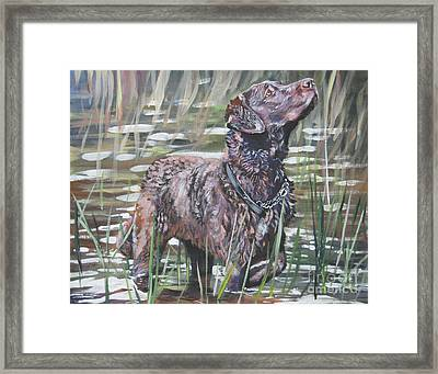Chesapeake Bay Retriever Bird Dog Framed Print by Lee Ann Shepard