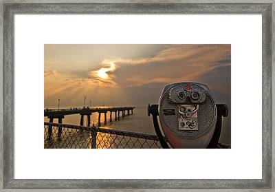 Chesapeake Bay Sunset Framed Print by Daniel Lowe