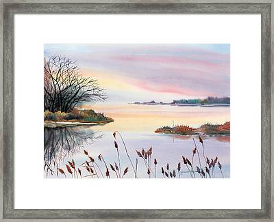 Chesapeake Bay Sunset Framed Print by Yolanda Koh