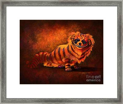 Cheshire Canine Framed Print