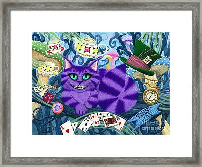Cheshire Cat - Alice In Wonderland Framed Print