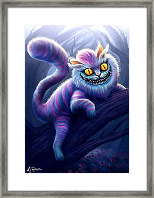 Cheshire Cat Framed Print by Anthony Christou