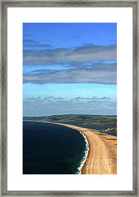 Framed Print featuring the photograph Chesil Beach by Baggieoldboy