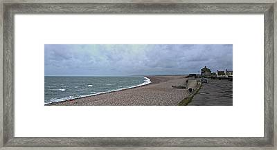 Chesil Beach November 2013 Framed Print