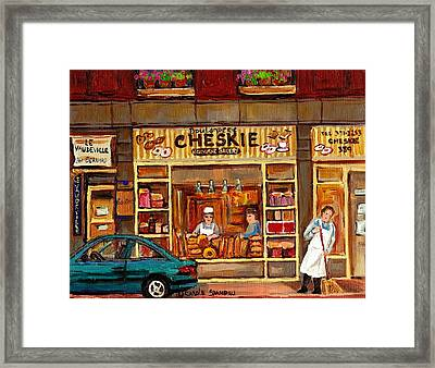 Cheskies Hamishe Bakery Framed Print by Carole Spandau