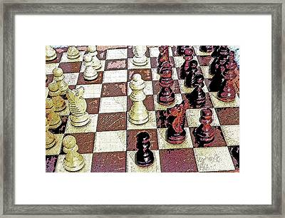 Chess Board - Game In Progress 1 Framed Print by Steve Ohlsen