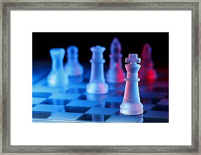 Chess Board Game Framed Print