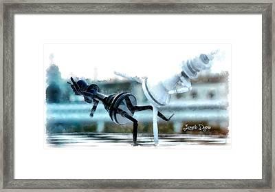 Chess Figthers  - Aquarell Style -  - Da Framed Print by Leonardo Digenio