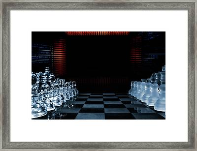 Chess Game Performed By Artificial Intelligence Framed Print by Christian Lagereek