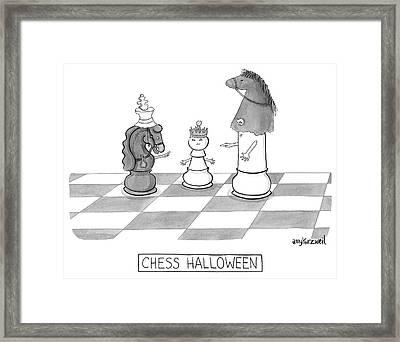 Chess Halloween Framed Print by Amy Kurzweil