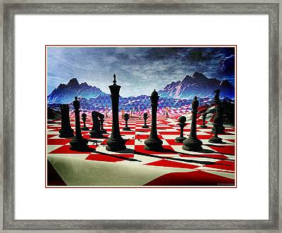 Chess In The Fifth Dimension Framed Print